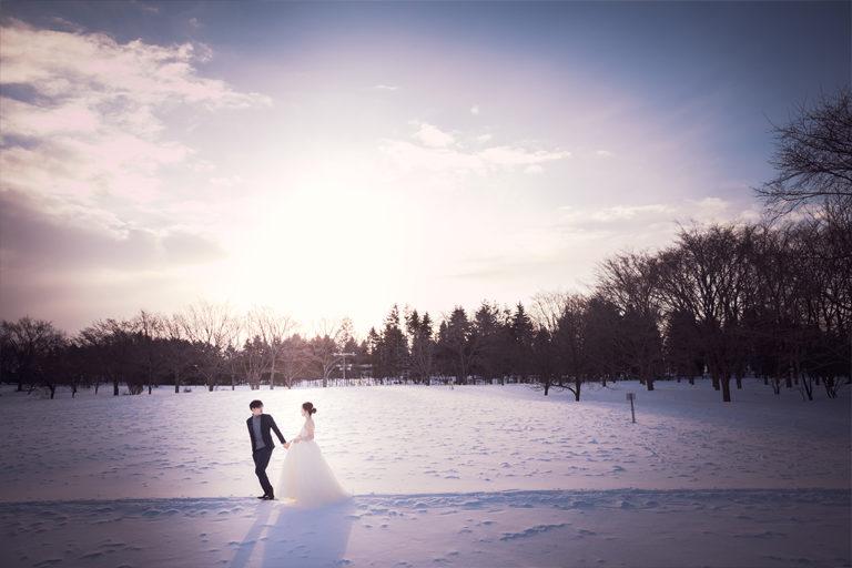 Sapporo Hokkaido prewedding location photography