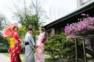 永山邸で着物フォトkimono photo in nagayamatei