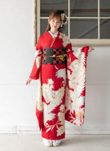 振袖-東京レトロ赤